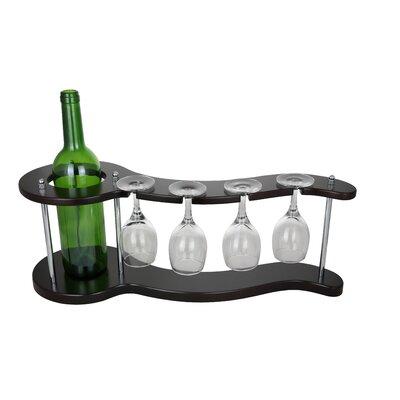 Bodies Curvy Display Holder 1 Bottle Tabletop Wine Glass Rack