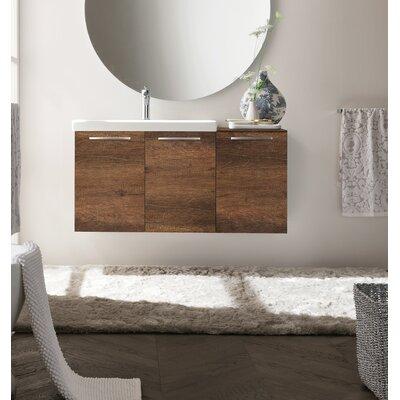 "Shehata 42"" Wall Mounted Single Bathroom Vanity Base Finish: Nodato Canyon"