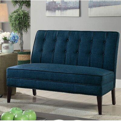 Ballyrashane Upholstered Bench Upholstery: Dark Blue
