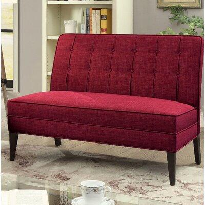 Ballyrashane Upholstered Bench Upholstery: Red