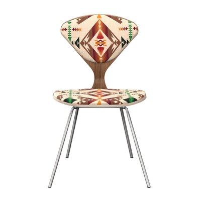 Blankenship Dining Chair Frame Color: Walnut/Chrome