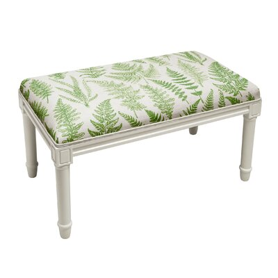Albion Fern Wood Bench Upholstery: Green