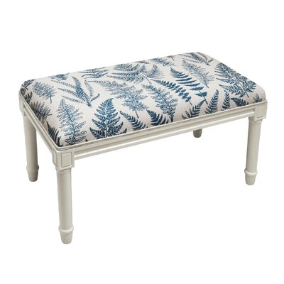 Albion Fern Wood Bench Upholstery: Blue