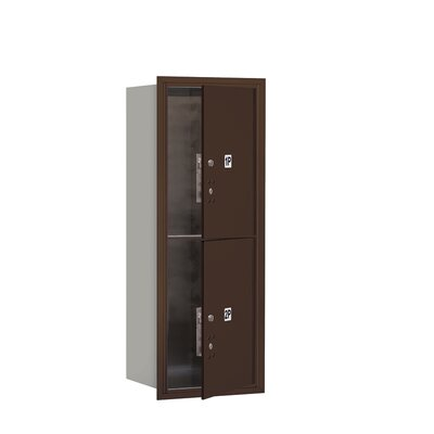 Recessed USPS Aluminum 2 Unit 4C Horizontal Parcel Locker Mailbox Color: Bronze