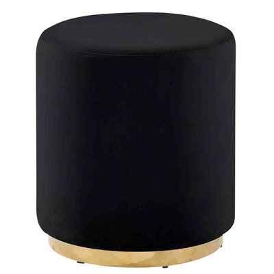 Keifer Comfy Subtle Vanity Stool Seat Color: Black