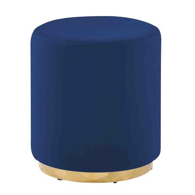Keifer Comfy Subtle Vanity Stool Seat Color: Blue