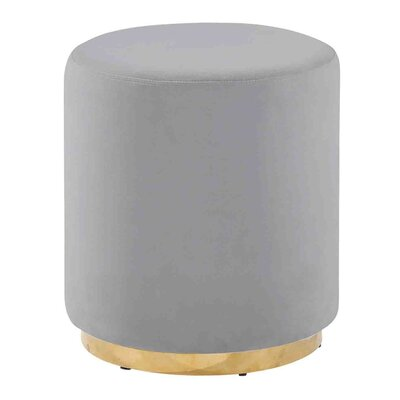 Keifer Comfy Subtle Vanity Stool Seat Color: Gray