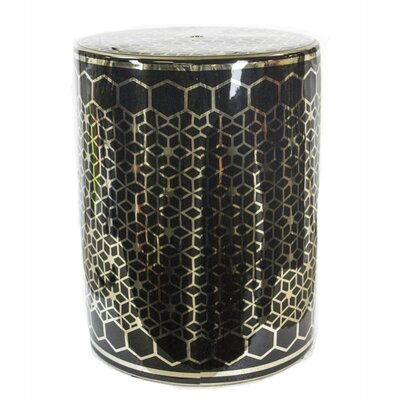 Keim Mosaic Garden Stool Color: Gold/Black