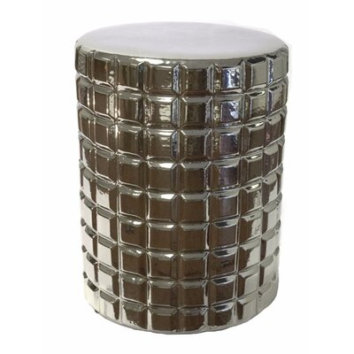 Mckeown Retro Garden Stool Color: Silver