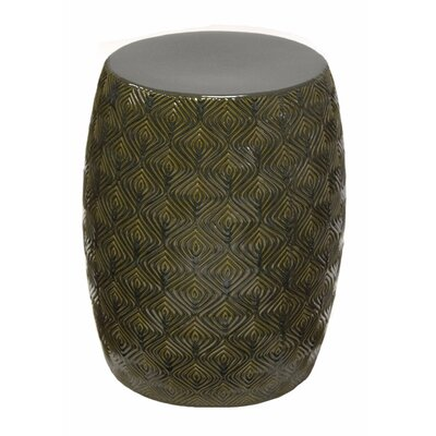 Prichard Contemporary Ceramic Garden Stool Color: Green/Gray