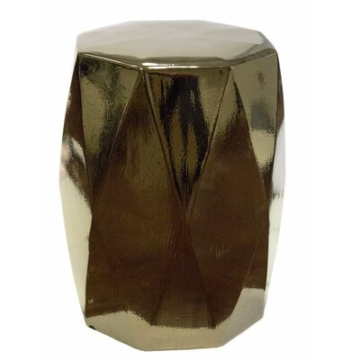 Keiper Diamond Edge Garden Stool Color: Gold