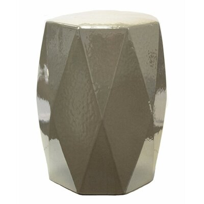 Keiper Diamond Edge Garden Stool Color: White