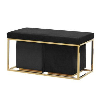 Keister Modish Metal Bench Upholstery: Black