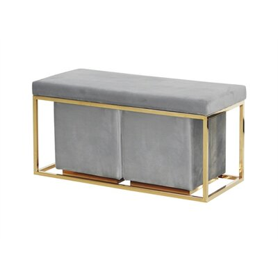 Keister Modish Metal Bench Upholstery: Gray