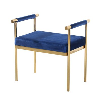 Kelemen Amazingly Bedroom Bench Frame Color/Top Color: Gold/Blue