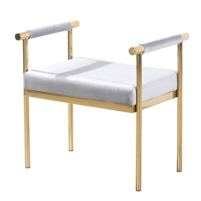 Kelemen Amazingly Bedroom Bench Frame Color/Top Color: Gold/Gray