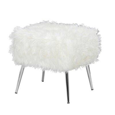 Mcnair Sturdy Vanity Stool Color: White
