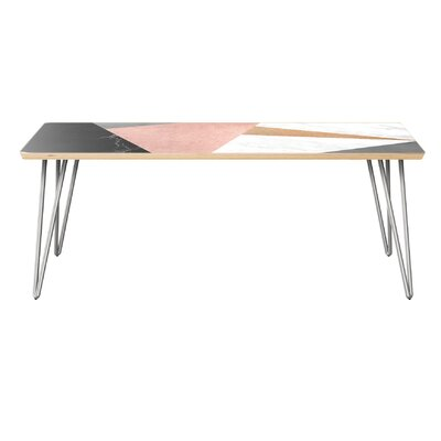 Ruark Coffee Table Table Top Color: Natural, Table Base Color: Chrome