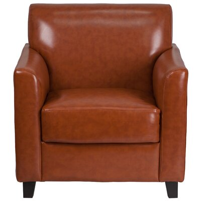 Muldoon Diplomat Leather Lounge Chair Seat Color: Cognac