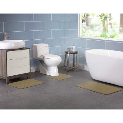 Younkin Memory Foam 3 Piece Bath Rug Set Color: Brown