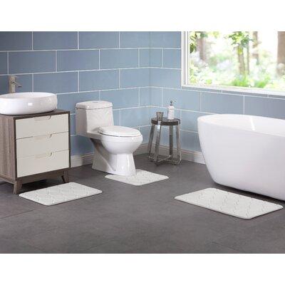Younkin Memory Foam 3 Piece Bath Rug Set Color: Gray