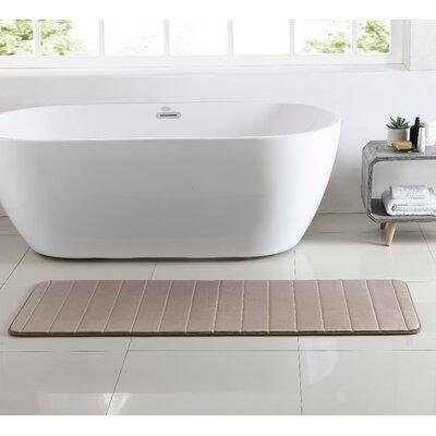 Leone Stitch Memory Foam Bath Rug Color: Gray