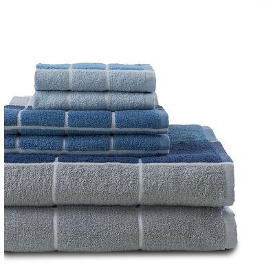 Koerner 6 Piece Towel Set Color: Blue