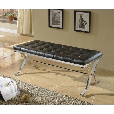 Kellam Metal Frame Metal Bench Upholstery: Black