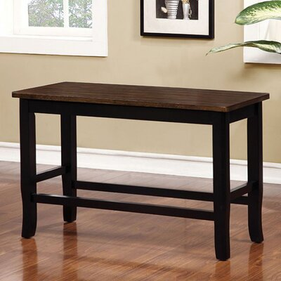 Adalbert II Counter Height WoodBench Color: Black