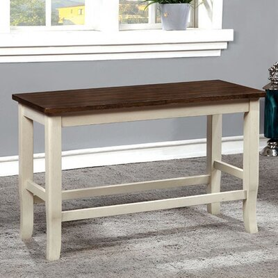 Adalbert II Counter Height WoodBench Color: White