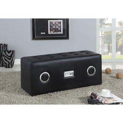 Shoell Upholstered Bench Upholstery: Black