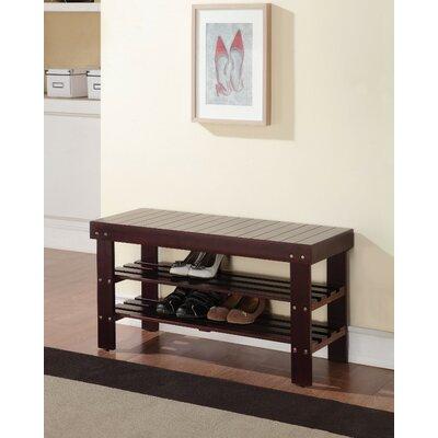 Kinkead Rectangular Wood Storage Bench Color: Espresso Brown