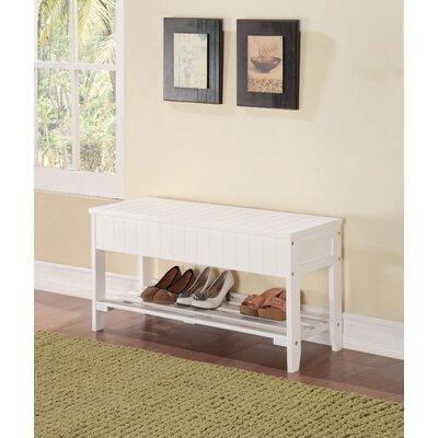 Grilli Rectangular Wood Storage Bench Color: White