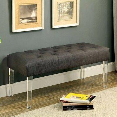 Kellar Sassy Style Upholstered Bench Upholstery: Gray