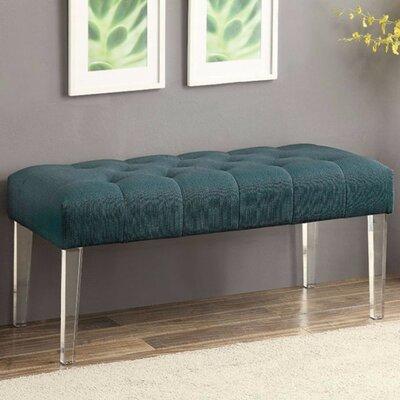 Kellar Sassy Style Upholstered Bench Upholstery: Teal/Blue