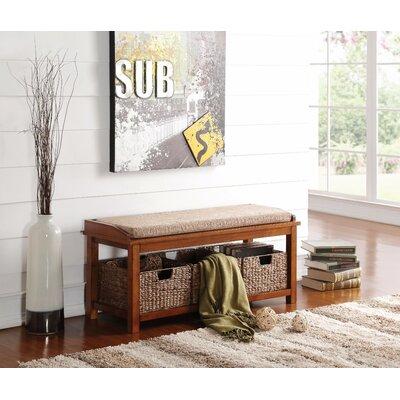 Wasilewski Wooden Wood Storage Bench