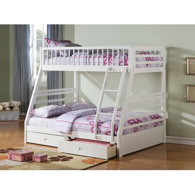 Friedensburg Wooden Twin over Full Bunk Bed with Drawers