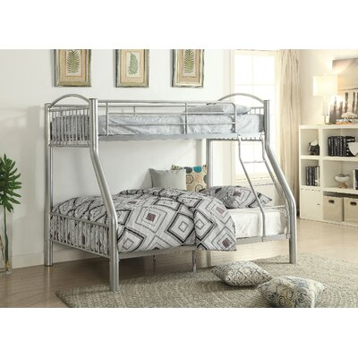 Andelain Metal Twin over Full Bunk Bed Bed Frame Color: Silver