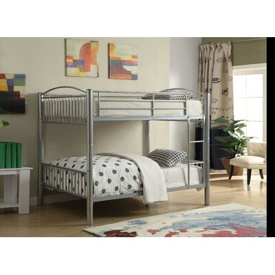 Agnes Metal Bunk Bed Size: Full over Full, Bed Frame Color: Silver