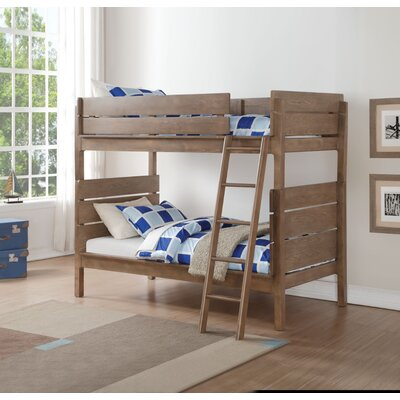 Armillac Wooden Twin over Twin Bunk Bed