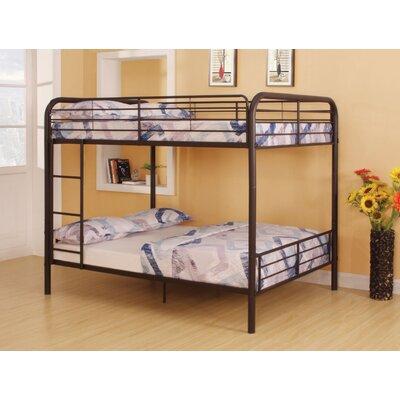 Lauier Metal Full over Full Bunk Bed Bed Frame Color: Dark Brown