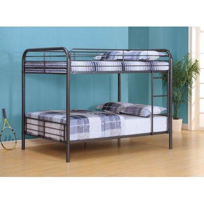 Lauier Metal Full over Full Bunk Bed Bed Frame Color: Gunmetal Gray
