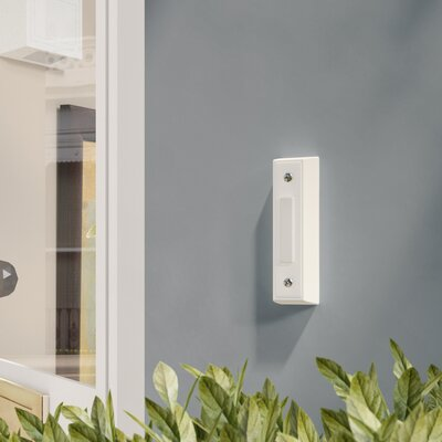 Builder One Chime Kit with Two White Buttons