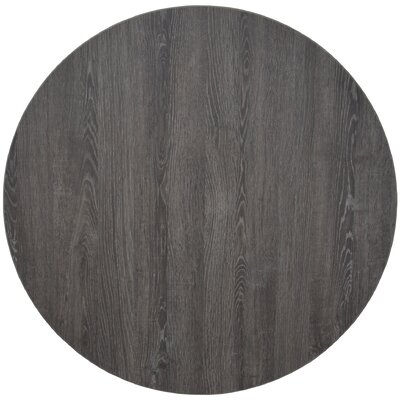 """High-Pressure Laminated Table Top Size: 60"""" R, Finish: Gray"""