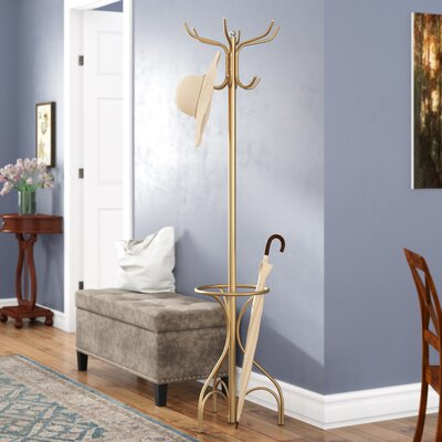 Brummett Coat Rack Color: Gold