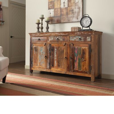 Whitehall Street Well-Made Wooden 3 Door Accent Cabinet