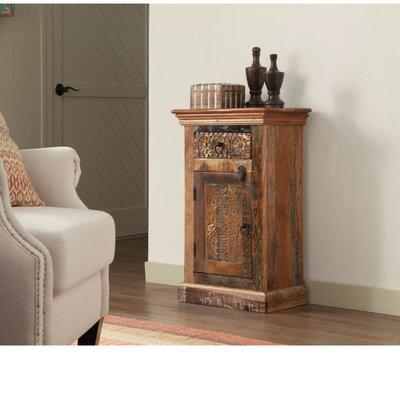 Brocklehurst Imprinted Wooden 1 Door Accent Cabinet