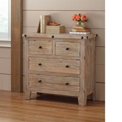 Beckman Solid Wood 4 Drawer Accent Chest