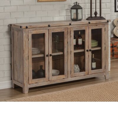 Becher Traditional Wooden 4 Door Accent Cabinet