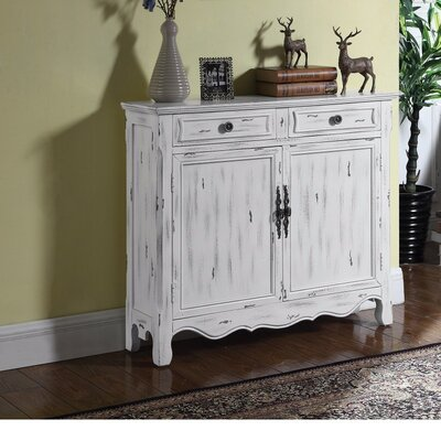 Wilkin Distressed 2 Door Accent Cabinet
